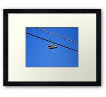 Cleats on a Wire Framed Print