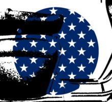 Scooter Target USA Flag Die Cut Sticker Sticker