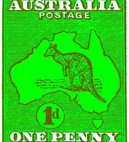 South Australia Vintage Postage Stamp Sticker