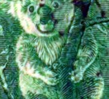 Australian Koala Bear Vintage Postage Stamp Sticker