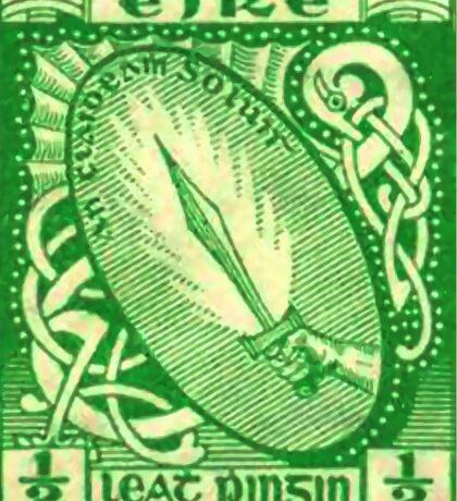 Ireland Sword Postage Stamp Sticker