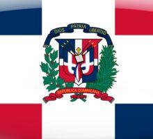 Dominican Republic Flag Glass Oval Die Cut Sticker Sticker