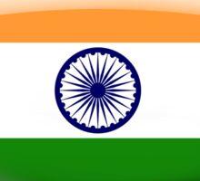 India Flag Glass Oval Die Cut Sticker Sticker