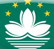 Macau Flag Glass Oval Die Cut Sticker Sticker