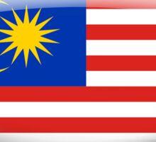 Malaysia Flag Glass Oval Die Cut Sticker Sticker