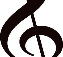 Music Treble Clef Note Sticker by ukedward