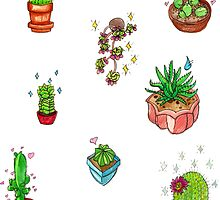 kawaii cacti by HiddenStash