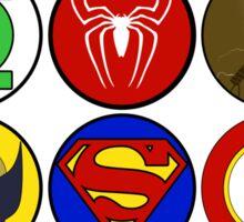 Superhero Symbol Sticker