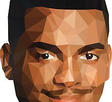 Low Poly Carlton - Sticker (Large) by thesupervoid