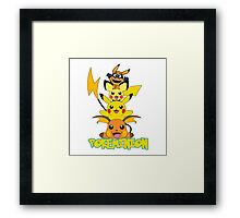 Pikaminion Evolution Framed Print