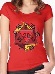 Abstracted D20 Women's Fitted Scoop T-Shirt