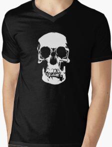 221b Baker Street Skull Mens V-Neck T-Shirt