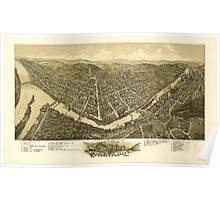 Panoramic Maps View of the city of Franklin Pa 1901 Poster