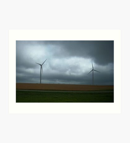 Kansas Windmill Farm Art Print