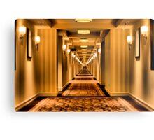 Creepy Corridor Metal Print