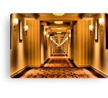 Creepy Corridor Canvas Print