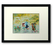 Craft Room Pickles Framed Print