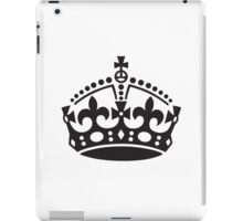 Keep Calm and Carry On Crown Sticker iPad Case/Skin
