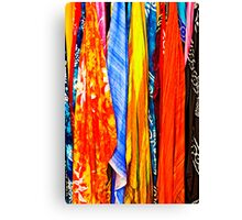 colourful scarves for sale Canvas Print