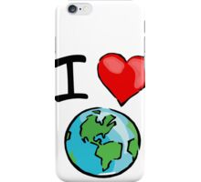 I heart earth iPhone Case/Skin