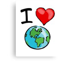 I heart earth Canvas Print