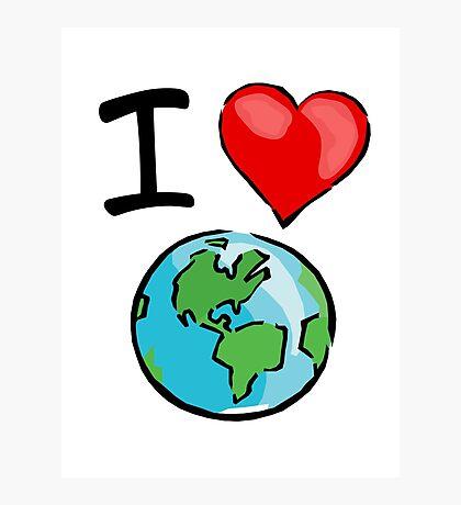 I heart earth Photographic Print