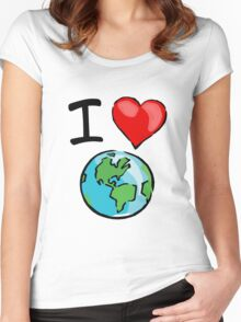 I heart earth Women's Fitted Scoop T-Shirt