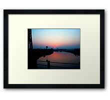 Ghazipur River Sunset Framed Print