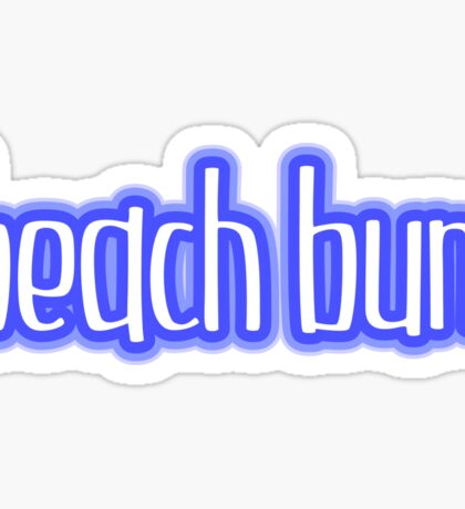 Beach Bum Blue Sticker