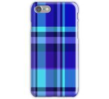 Neon Blue Plaid iPhone Case/Skin