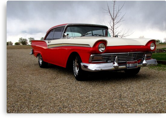 57 Ford Fairlane 500 by Diane Arndt