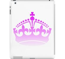 Keep Calm and Carry On Princess Crown Pink Sticker iPad Case/Skin
