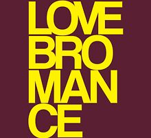 Love Bromance (yellow) Womens Fitted T-Shirt