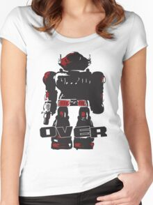 Robot Over Women's Fitted Scoop T-Shirt