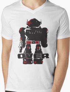 Robot Over Mens V-Neck T-Shirt