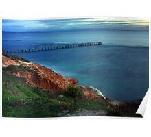 Port Noarlunga by twilight Poster