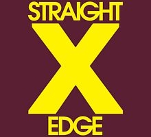 Straightedge (yellow) Womens Fitted T-Shirt