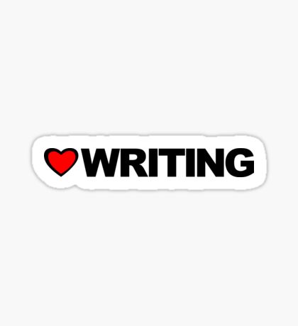 Love Writing Sticker