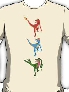 Pokesaurs - Dromaeosaurus Starterus T-Shirt