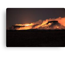 Fire on Table Mountain Canvas Print