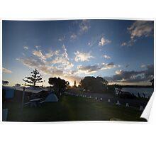 Campsite Sunset - Lennox Head Poster