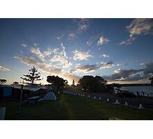Campsite Sunset - Lennox Head Photographic Print