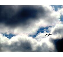 Flying through clouds, New York City Photographic Print