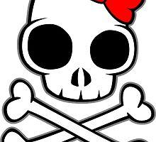 Skull & Crossbones Bow under by LudlumDesign