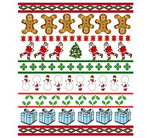 Runners Ugly Christmas Sweater  Photographic Print