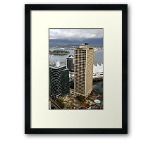 Vancouver City & Harbour, Canada Framed Print