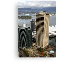 Vancouver City & Harbour, Canada Canvas Print