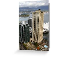 Vancouver City & Harbour, Canada Greeting Card