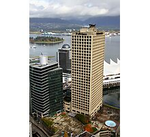 Vancouver City & Harbour, Canada Photographic Print