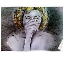 Smoking Marilyn  Poster